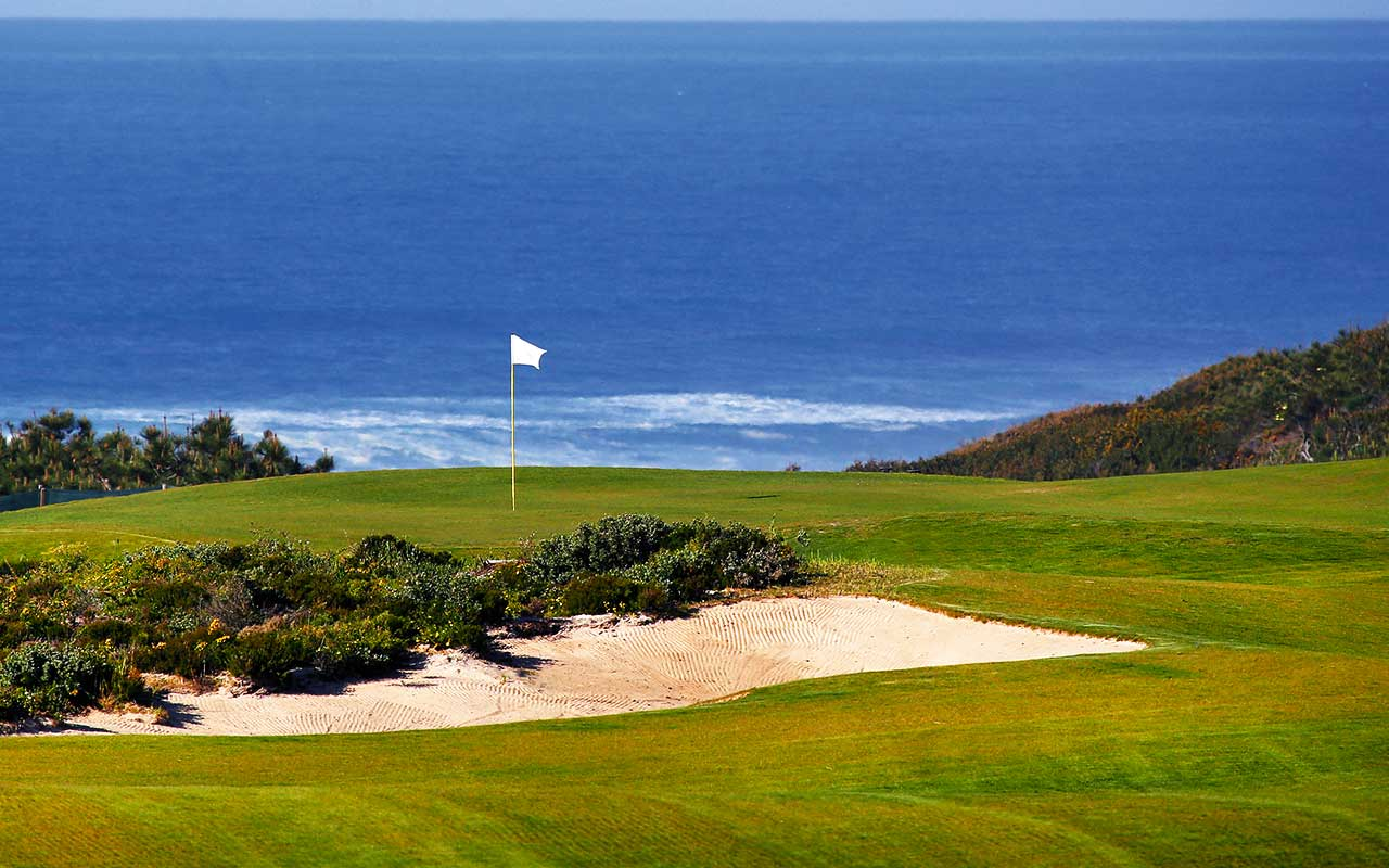 Longstay Portugal Praia Del Rey west cliffs - Sunbirdie